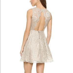 Alice and Olivia Natalia Open Back Lace Dress